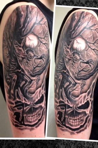 HP Nguyen tattoo Art of Ink Iron Maiden Eddie