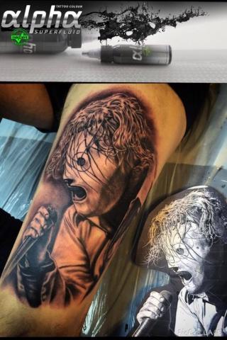 Charly Phoenix tattoo Art of Ink slipknot corey taylor realism