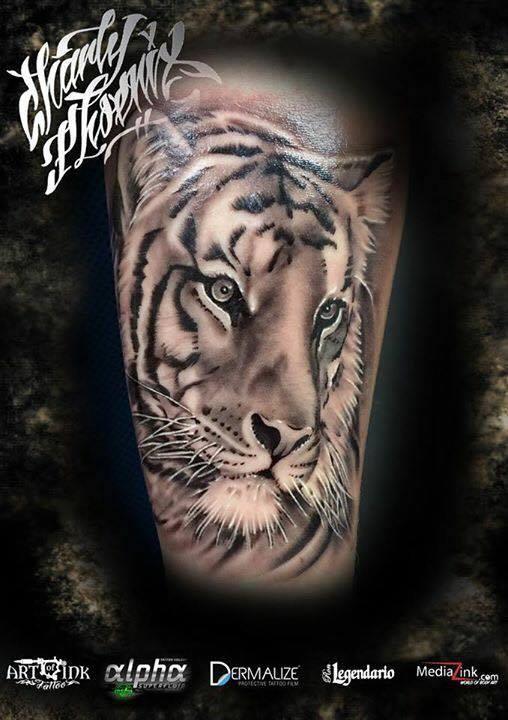 Charly Phoenix tattoo Art of Ink tiger