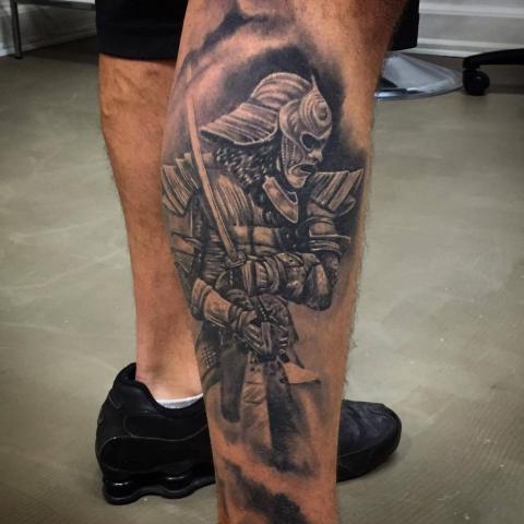 Charly Phoenix tattoo Art of Ink oriental samurai
