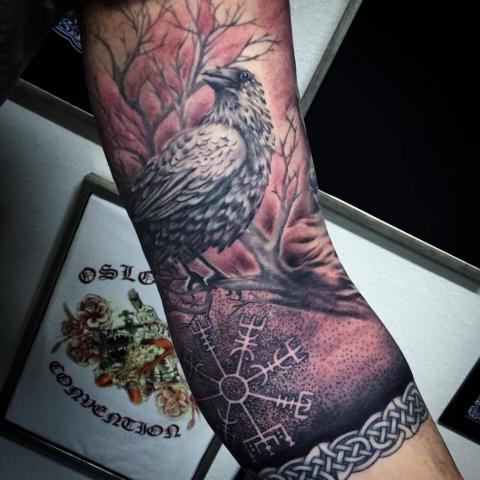 Charly Phoenix tattoo Art of Ink raven valhalla