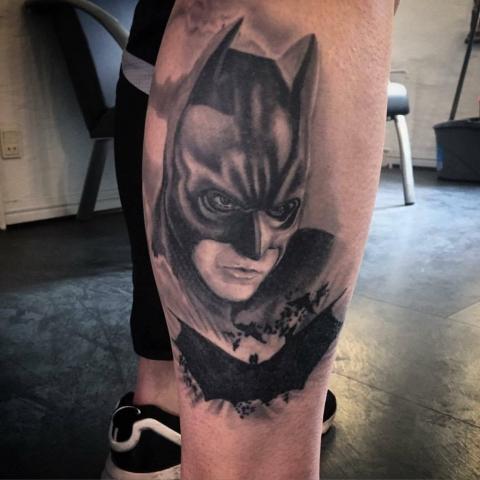 Charly Phoenix tattoo Art of Ink batman realism