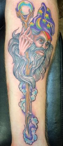 Dave Woodard tattoo wizard