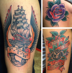 Dave Woodard tattoo old school