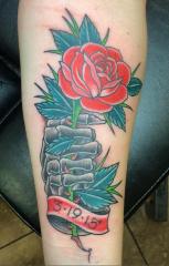 Dave Woodard tattoo dead rose