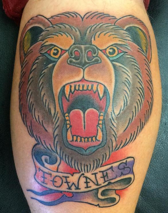 Dave Woodard tattoo bear old school
