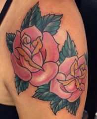 Andy Perez tattoo roses