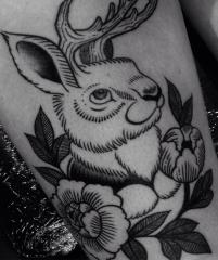 Buffy Ino Kua tattoo bunny neo traditional