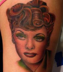 Buffy Ino Kua tattoo realism portrait color