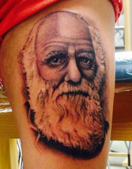 Buffy Ino Kua tattoo black grey realism portrait