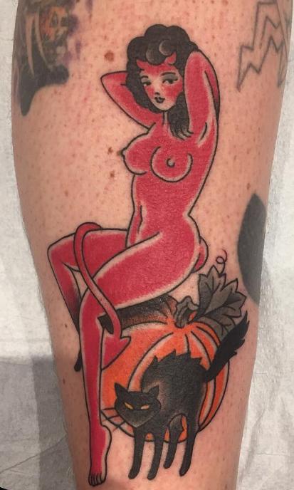 Ben Cheese Ltd Tattoo devil woman