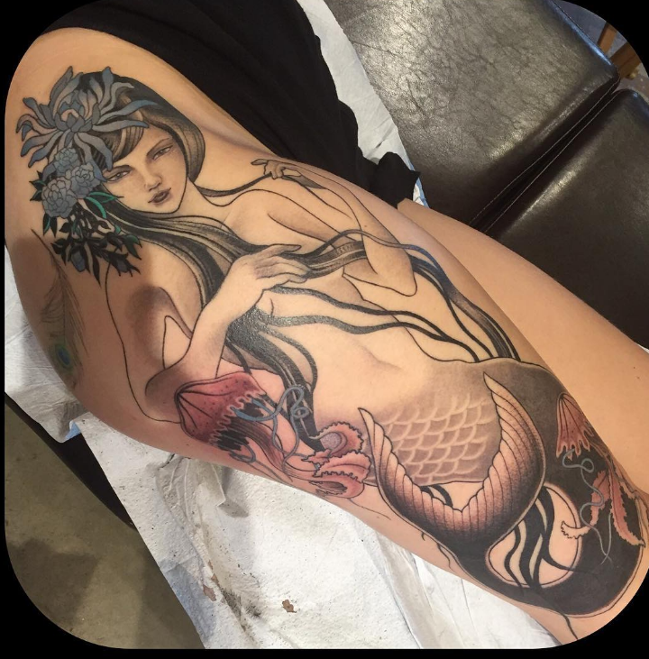 Ben Cheese Ltd Tattoo mermaid
