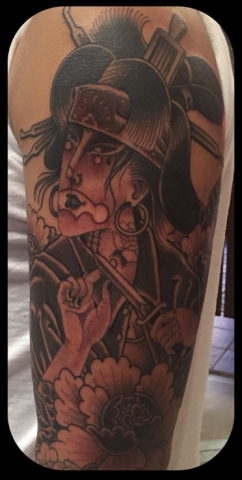 Ben Cheese Ltd Tattoo oriental samurai japanese