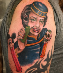 Guy Ursitti  tattoo pez