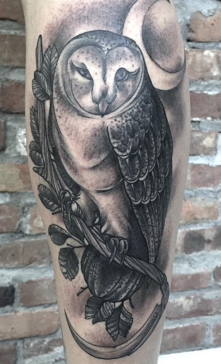Guy Ursitti  tattoo tatovering owl