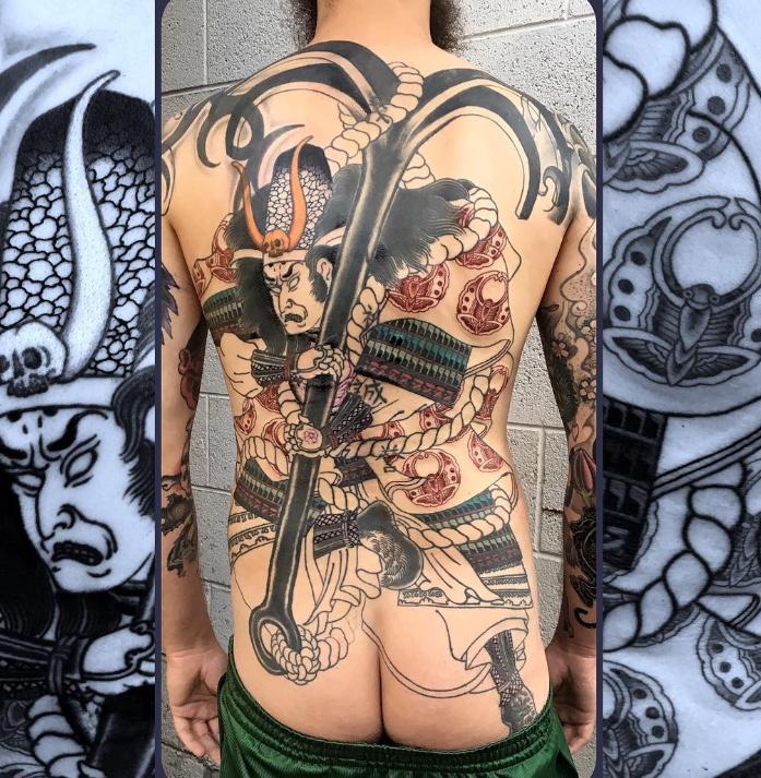 Dave Regan tattoo oriental back