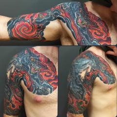 Dave Regan tattoo wolf