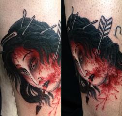 Dave Regan tattoo oriental samurai