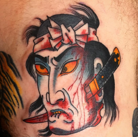 Dave Regan tattoo oriental japanese samurai