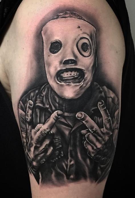 Charly Phoenix tattoo Art of Ink slipknot realism corey taylor