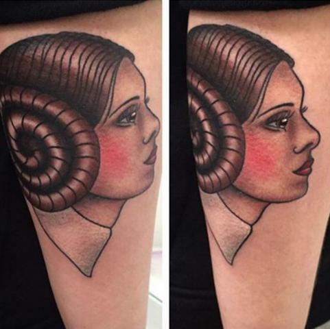 Freja Phoenix tattoo Art of Ink star wars princess leia