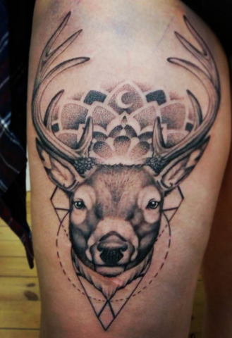 Simon Brandt Tattoo Art of Ink deer