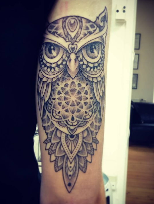 Simon Brandt Tattoo Art of Ink owl