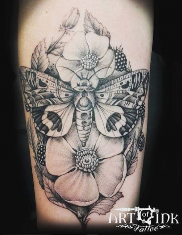Simon Brandt Tattoo Art of Ink moth