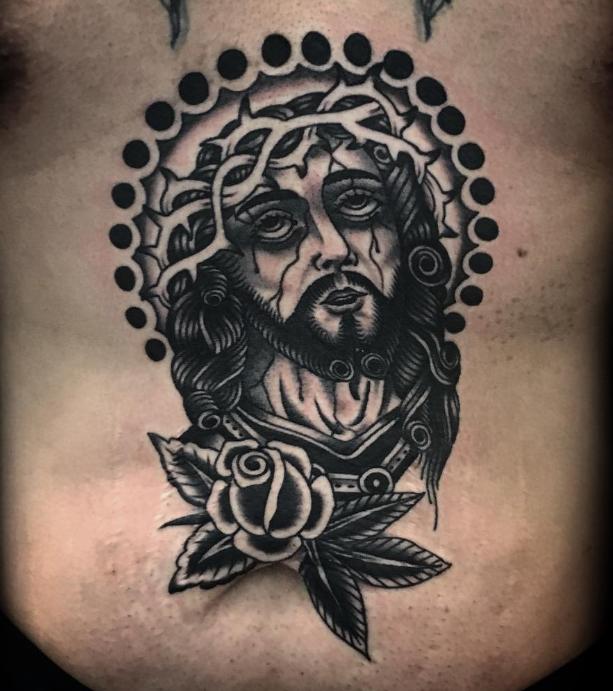 Austin Maples Idle Hand Tattoo jesus