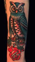 Holly Ellis Idle Hand Tattoo owl