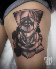 Phillip Wolves tattoo