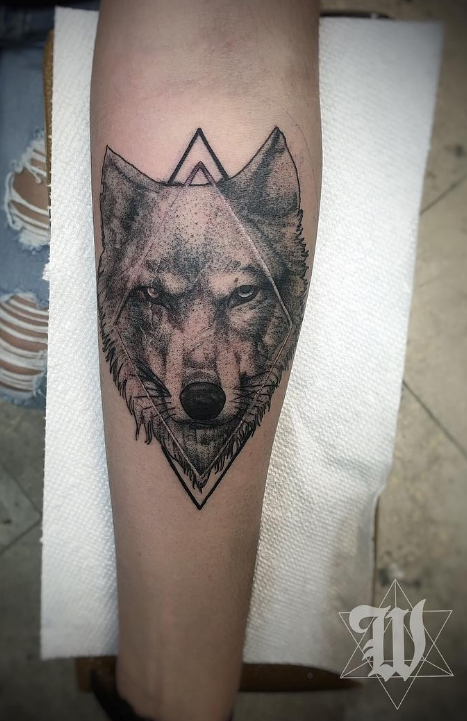 Phillip Wolves tattoo