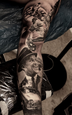 Pedro Leon Studio 73 Tattoo black n grey realism